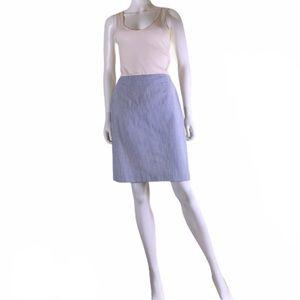 Brooks Brothers Striped Seersucker Midi Skirt